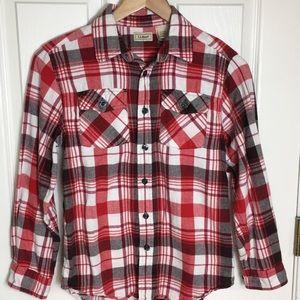 LL Bean | Boy's Flannel Shirt Plaid size 10-12 Med